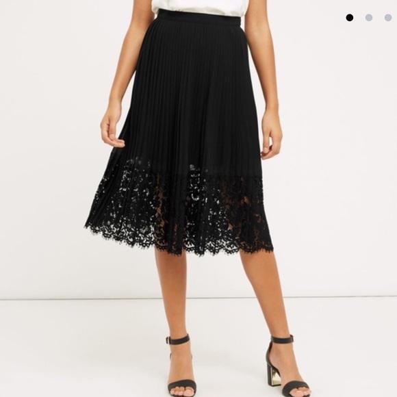 9de859c625bd Oasis Skirts | Pleated Lace Skirt Bnwt | Poshmark